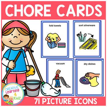 Chore Cards PECS Autism