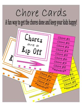 Chore Cards- Great for Life Skills or YOUR HOUSE!