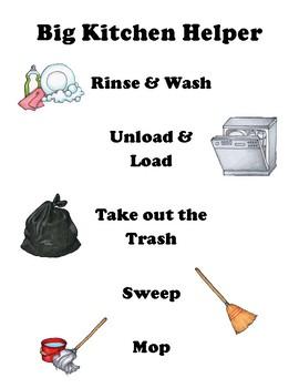 Chore Chart and Helper List