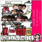 Melonheadz: Chore Chart clip art - COMBO PACK