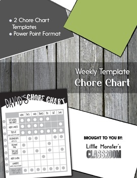 **FREEBIE** Chore Chart for Classroom or Home Use