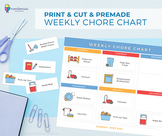 Chore Chart for Kids Template   Premade & Customizable Versions
