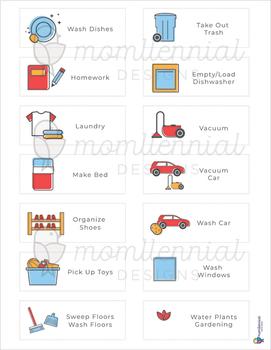 Chores Chart Template from ecdn.teacherspayteachers.com