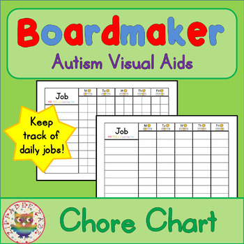 Chore Charts - Boardmaker Visual Aids for Autism