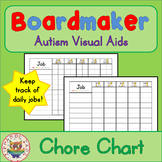Chore Charts - Boardmaker Visual Aids for Autism SPED