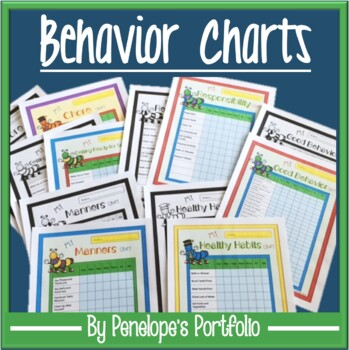 Behavior Charts - Chores, Healthy Habits, Manners, Responsibility, and More!