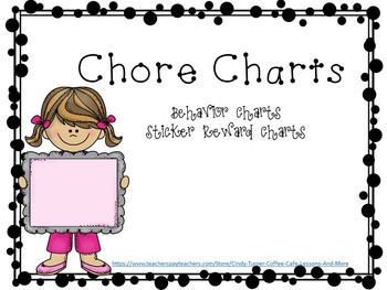 Chore Charts/ Reward Charts/Behavior Charts