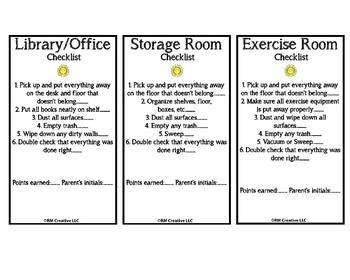 Chore Charts for the home