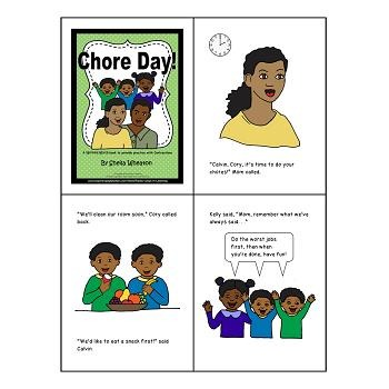 Chore Day:  A READ TO LEARN Book About Contractions