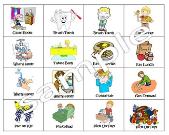 Chore Job Chart For Kids