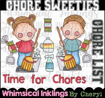 Chore Sweeties Clipart Collection
