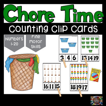 Chore Time Count and Clip Number Cards