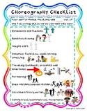Choreography, Dance Combination Checklist with Visuals-FREEBIE