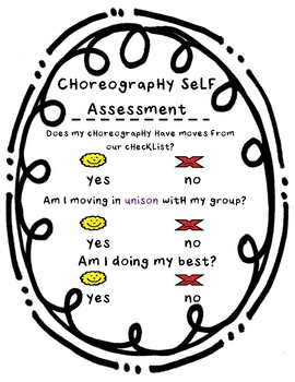 Choreography Self Assessment Visual
