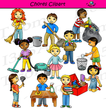Chores Clipart - Cleaning The Classroom