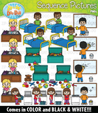 Chores Sequence Action Pictures Clipart {Zip-A-Dee-Doo-Dah Designs}