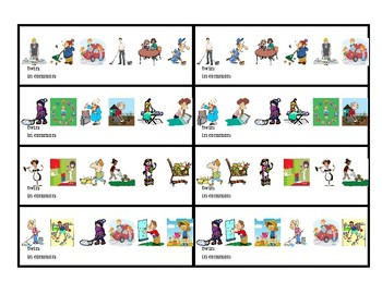 Chores Twins speaking activity