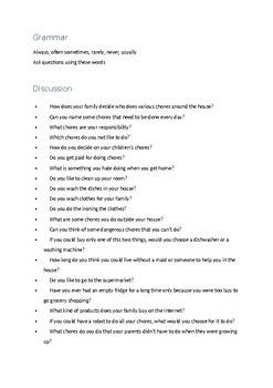 Chores Vocabulary Lesson (Online Lesson) A2