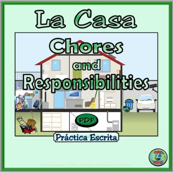 Chores and Responsibilities Writing Worksheet Practice