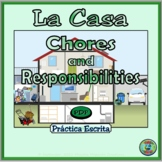 Home topic; Chores and Responsibilities Writing Worksheet Practice