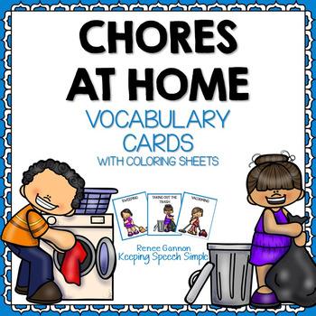 Vocabulary Cards - Chores at Home