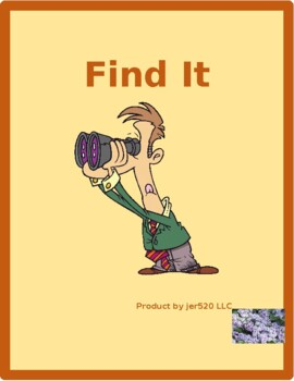 Chores in English Find it Worksheet