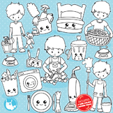 Chores stamps commercial use, vector graphics, images  - DS1032