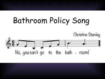 Chorus Bathroom Policy Worksheet $FREE