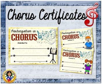 Chorus Certificates