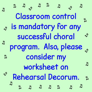 Chorus Classroom Management Tips