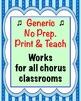 Chorus Classroom Management Worksheet