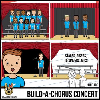 Chorus Clip Art: Build a Concert Stage