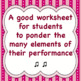 Chorus Post Concert Worksheet for Students to assess their