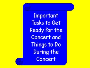 Chorus Concert Preparation Checklist POWER POINT ♫