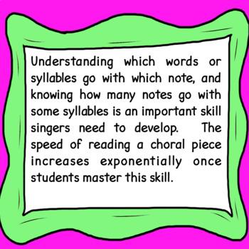 Chorus & English Worksheet:  Dividing Words (Lyrics) Into Syllables