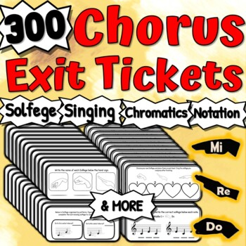 Chorus Exit Tickets KIT - 81 Music Exit Tickets For Choir!