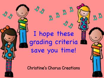 Chorus Grading Criteria Preview Version