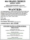 Chorus Job Application