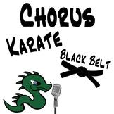 Chorus Karate Black Belt - Music Intervals & Rhythm Notation Music Lesson Plan