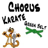 Chorus Karate Green Belt - Music Intervals & Vocal Exploration Music Lesson Plan