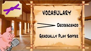 Chorus Karate Purple Belt - Rhythm & Vocal Exploration Music Lesson Plan
