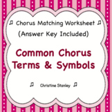 Terms & Symbols Every Singer Should Know ♫ Chorus Worksheet
