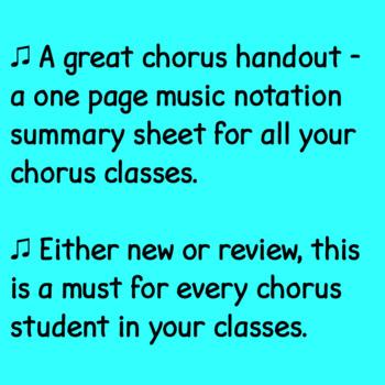 Chorus Music Basics ♫
