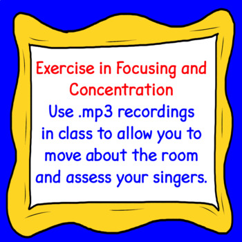Chorus Number Warm-up 1, 121, 12321, etc. ♫ MP3 Sing-a-long Accompaniment