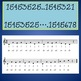 Chorus Warm-up With Numbers  ♫ 15453525 ... etc. ♫ Student Sheet Music Worksheet
