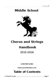 Chorus/Orchestra Handbook