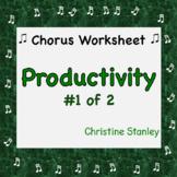 Chorus PRODUCTIVITY Worksheet (#1) + Answer Key