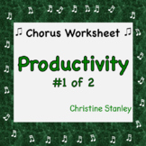 Chorus PRODUCTIVITY Worksheet (#1 of 2) + Answer Key