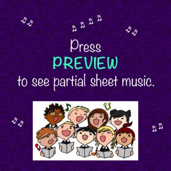 Chorus Playful Pentatonic Warm-up Piano Accompaniment Sheet Music
