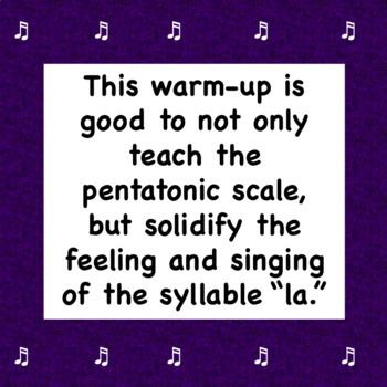 Chorus Playful Pentatonic Warm-up Student Sheet Music Handout